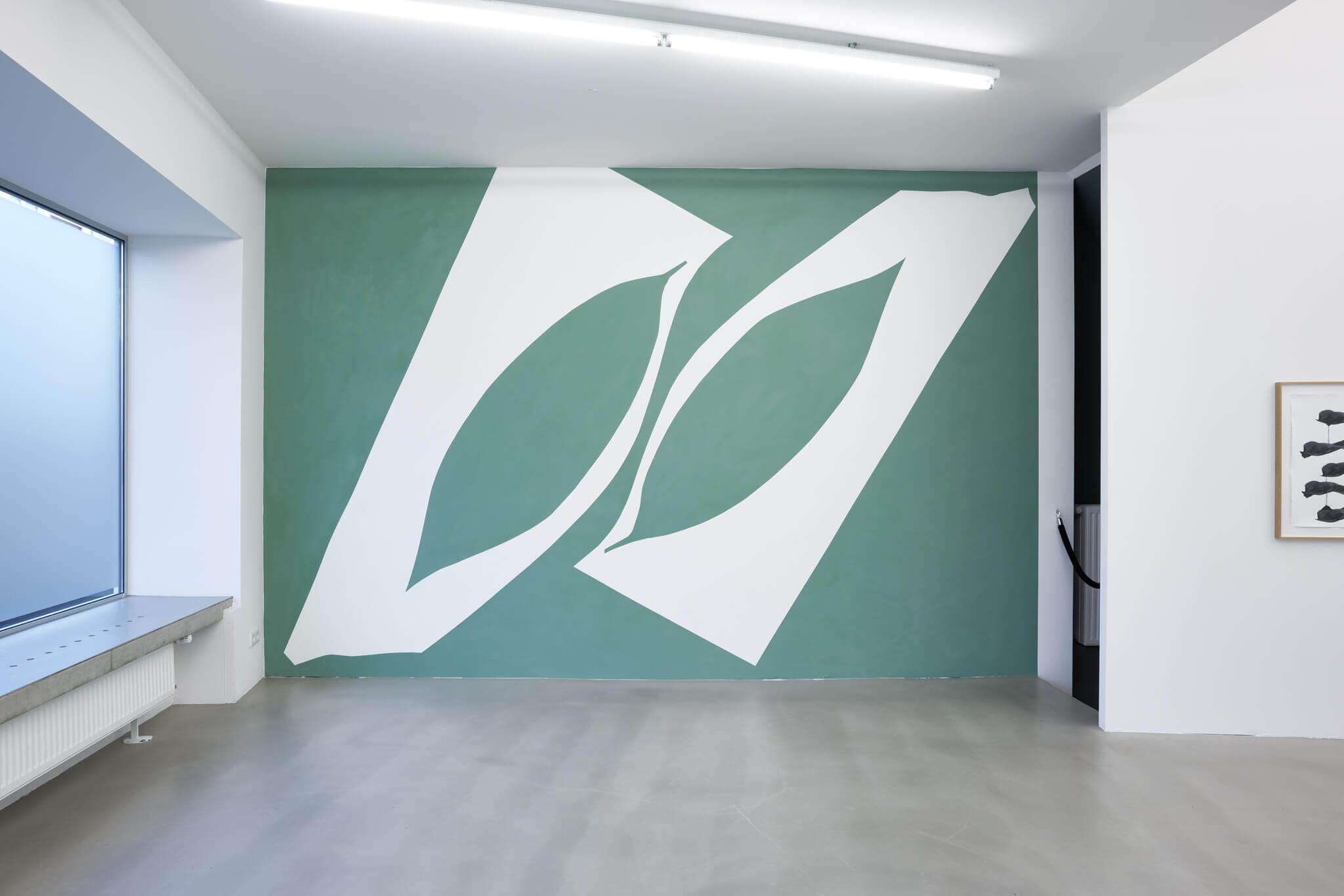 107_Frauke Dannert_Collage_Ausstellung_Wandmalerei_botanicals_Rupert Pfab Düsseldorf_ 2017 2