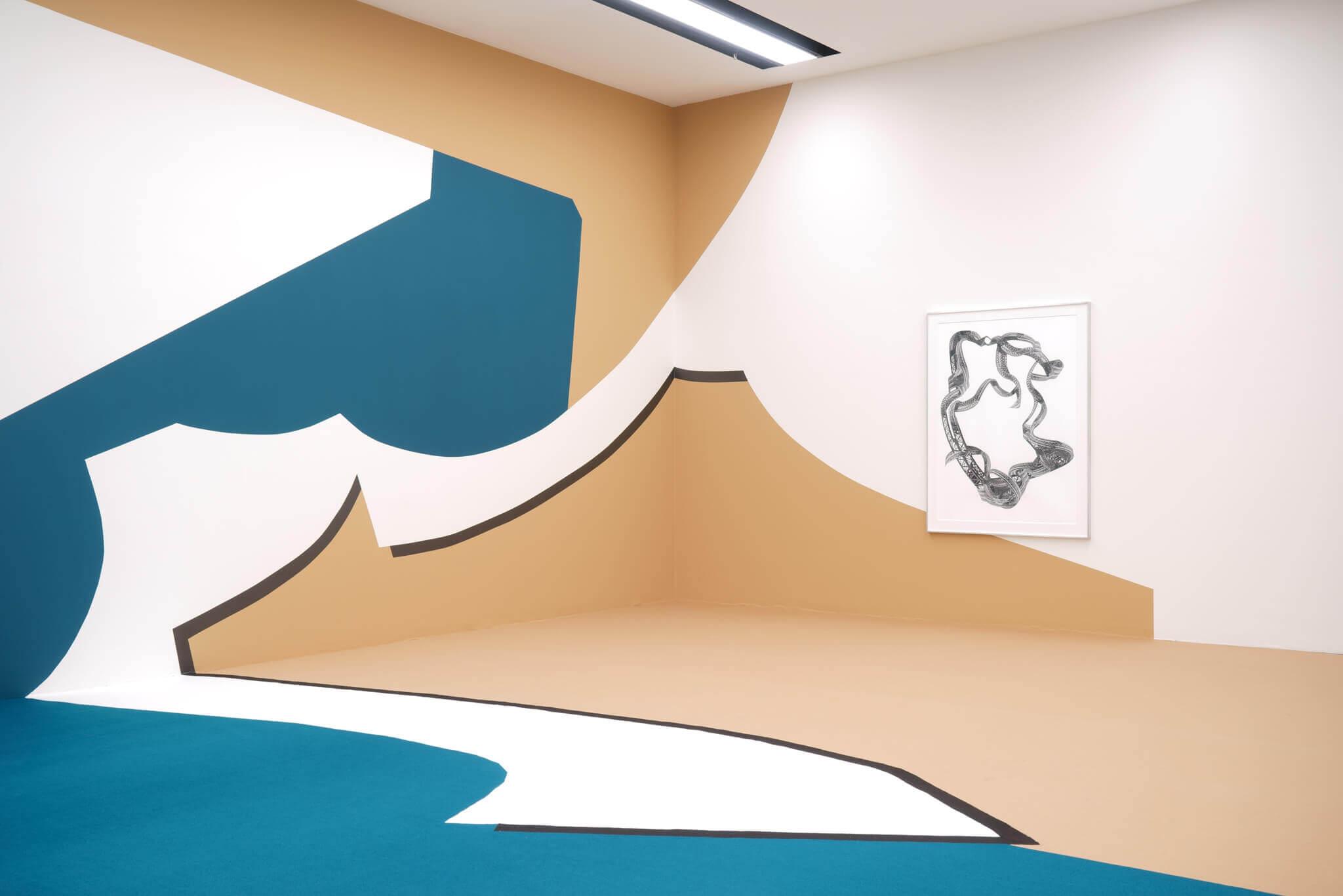 1_Frauke Dannert_Collage_Ausstellung_Wandmalerei_Kunstmuseum Luzern_ 2017