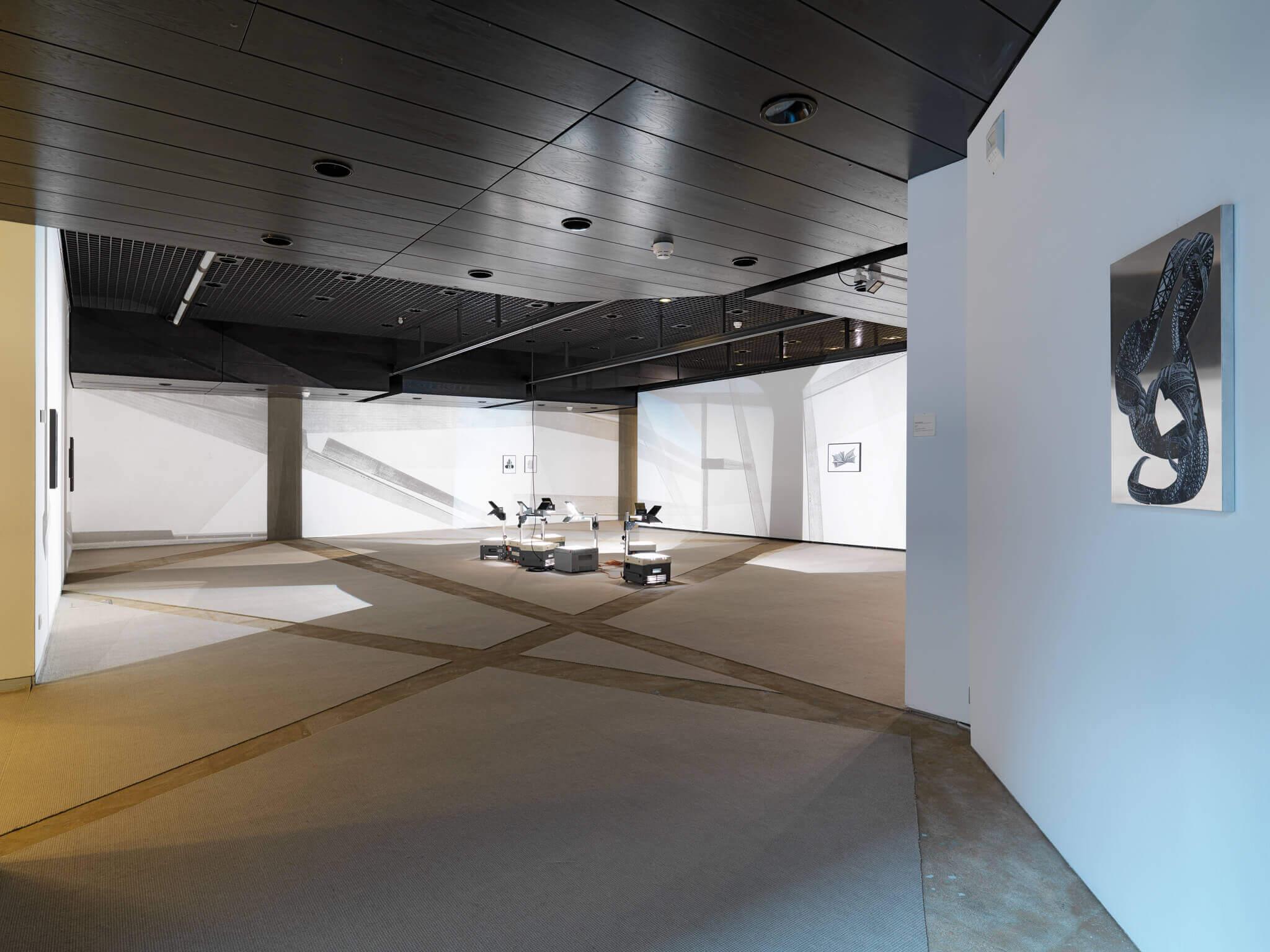 54_Frauke Dannert_Installation_Viermal Neues auf Papier_2015_Sprengel Museum Hannover