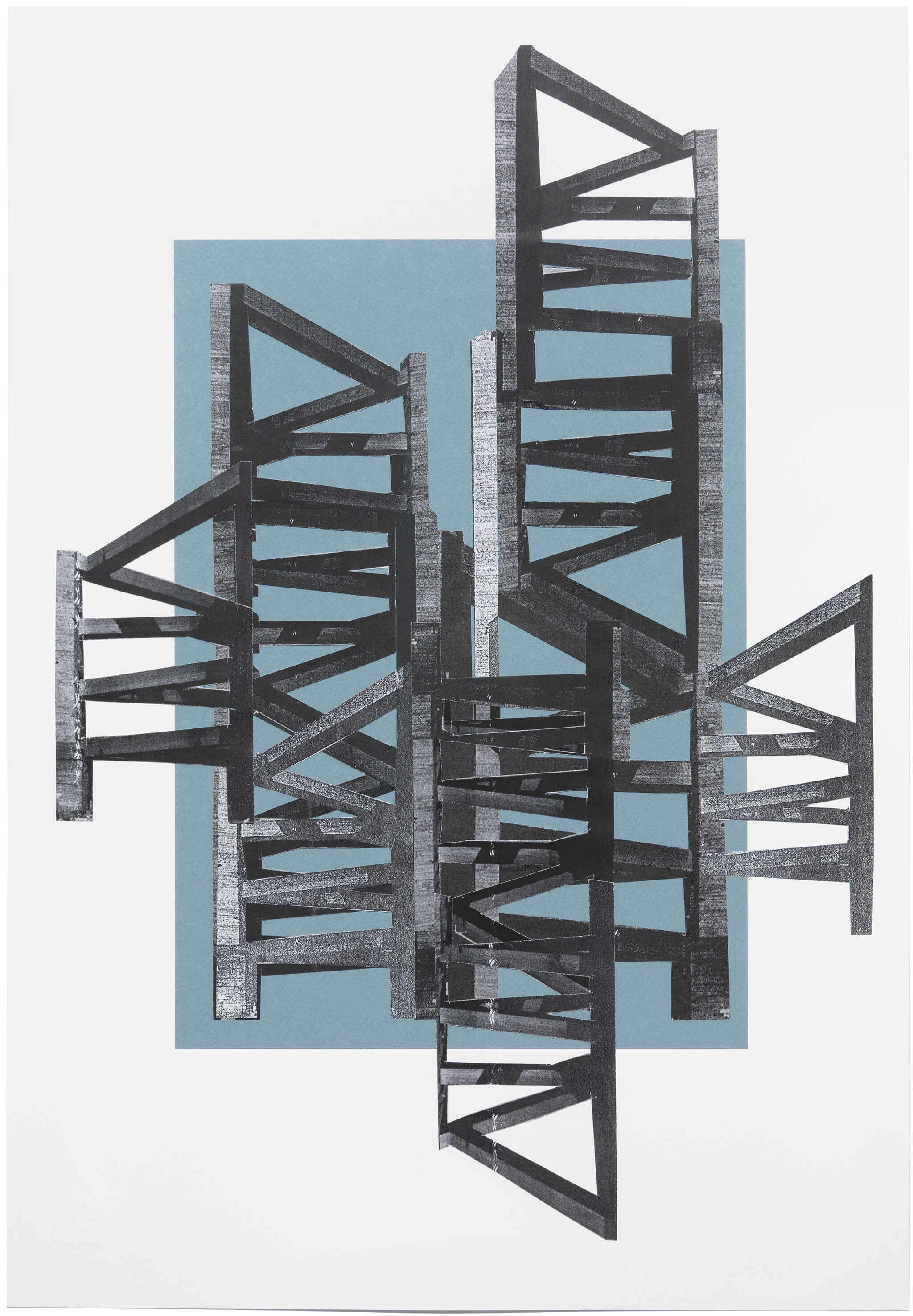 2015_09_Frauke Dannert_Collage_Papiercollage_Leiter